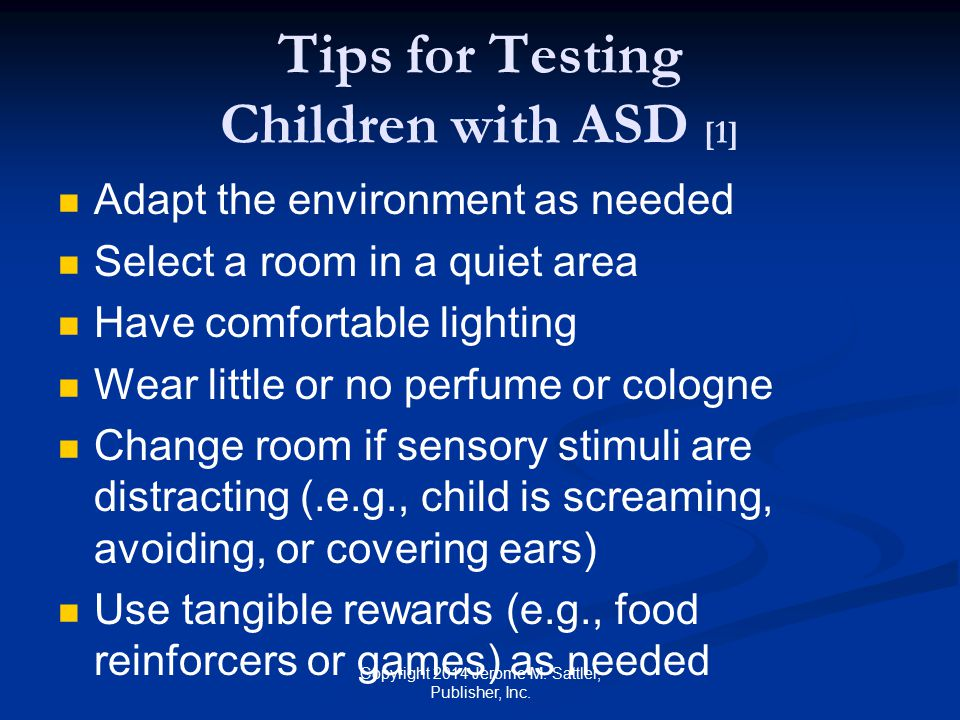 Tips for Testing Children with ASD [1]